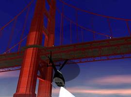 侠盗猎车手圣安地列斯大桥夜景