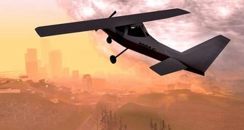侠盗猎车手圣安地列斯高清飞机截图