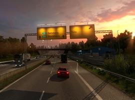 欧洲卡车模拟2超长挂车山路之行游戏视频