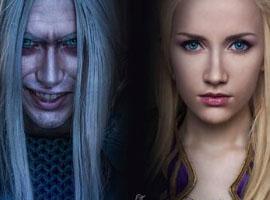 《魔兽世界》cos吉安娜与阿尔萨斯之恋