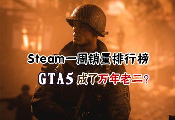 Steam一周销量排行榜:万年老二《GTA5》